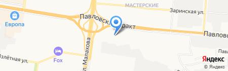 Фабрика обуви на карте Барнаула