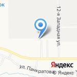 Бочонок на карте Барнаула