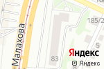 Схема проезда до компании Афина в Барнауле