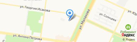 Детский сад №157 на карте Барнаула