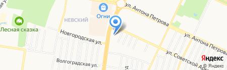 Российский кафель на карте Барнаула