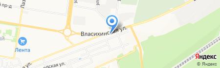 Амбаръ строительных материалов на карте Барнаула