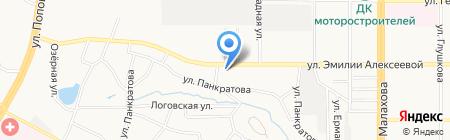 Тойота-сервис на карте Барнаула