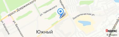 Валдай на карте Барнаула