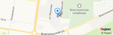 Служба заказа экскаватора-погрузчика на карте Барнаула