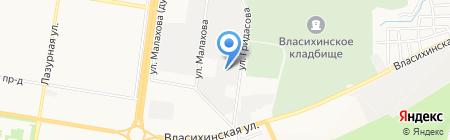 Транспорт Алтая на карте Барнаула