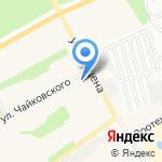 Баня №1 на карте Барнаула