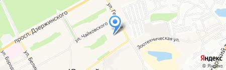 Южная поселковая Администрация на карте Барнаула