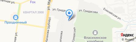 Плотава на карте Барнаула