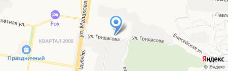 Горэлектротранс на карте Барнаула