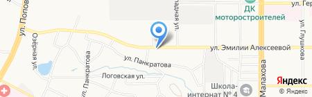Магазин автохимии на карте Барнаула