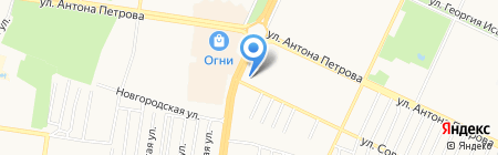 Линия рекламы на карте Барнаула