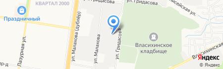 Альфа-Москва-Алтай на карте Барнаула