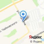 Стик на карте Барнаула