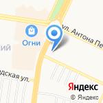 Белка на карте Барнаула