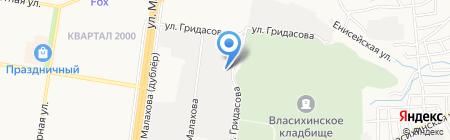 Алтайская электрическая компания на карте Барнаула
