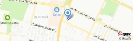 Призывной пункт Военного комиссариата Ленинского и Индустриального районов на карте Барнаула