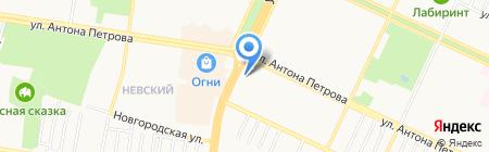 Галантей на карте Барнаула