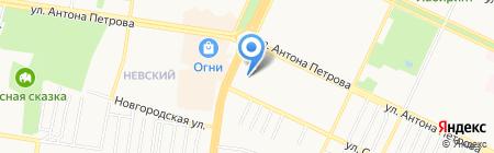 Рябина на карте Барнаула