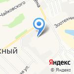 Детский сад №256 на карте Барнаула