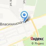 Автомастерская на Власихинской на карте Барнаула