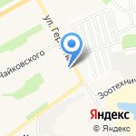 Пожарная часть №7 на карте Барнаула