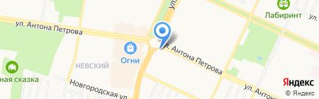 Магазин верхней мужской одежды на карте Барнаула