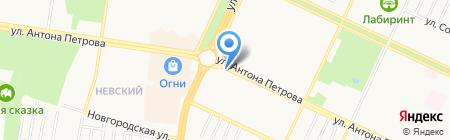 Букетик на карте Барнаула