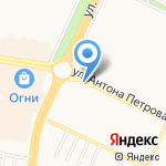 Киоск по продаже цветов на карте Барнаула
