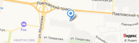 Малахит на карте Барнаула