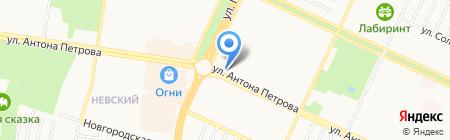 Цветы на карте Барнаула