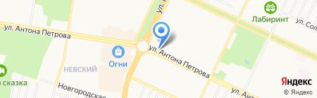 Киоск по изготовлению ключей на карте Барнаула
