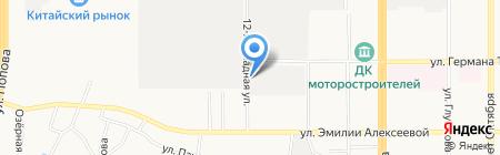 Ретона на карте Барнаула