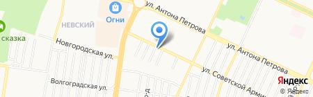 Авто стандарт на карте Барнаула