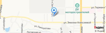 Атлантик на карте Барнаула
