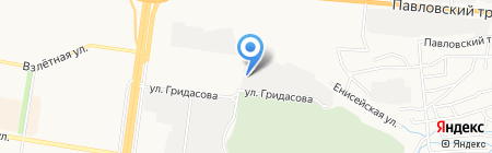 Строительная компания Сибпромстрой на карте Барнаула