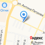 Айболит-Авто на карте Барнаула