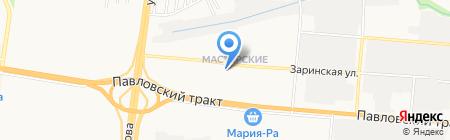 ЗЛАТА на карте Барнаула