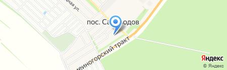 Детский сад №211 на карте Барнаула