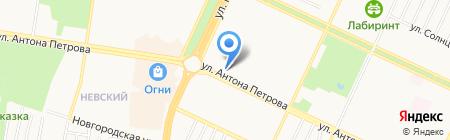 Оптика-Эллоида на карте Барнаула