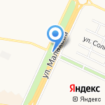 Спылу Сжару на карте Барнаула