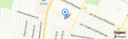 Дельта на карте Барнаула