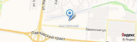 Олимпия на карте Барнаула