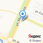 Белый замок на карте Барнаула