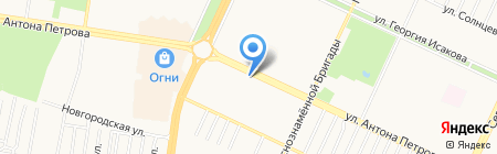 Мастер и мастерица на карте Барнаула