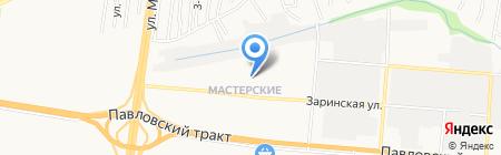 Средняя общеобразовательная школа №102 на карте Барнаула