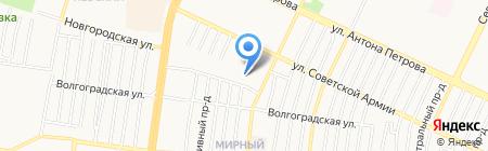 Средняя общеобразовательная школа №51 на карте Барнаула