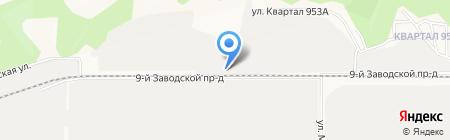 Лечебное исправительное учреждение №1 на карте Барнаула