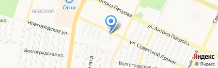 Азурит на карте Барнаула