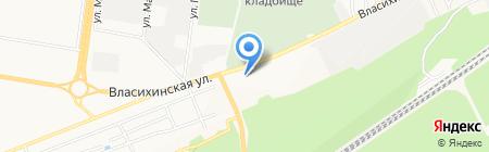 Строительный двор на карте Барнаула